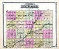 Outline Map, Crawford County 1908